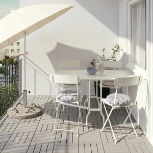 Ikea适合公寓阳台或小庭院可折叠长方桌