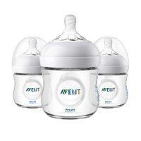 Philips Avent 婴儿 Natural 透明奶瓶, 4盎司*3个