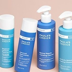 24% Off2 or More Cleansers & Toners @ Paula's Choice