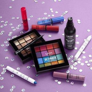 无门槛7折+送正装眼影盘NYX Professional Makeup 全场热卖 收6色遮瑕、定妆喷雾
