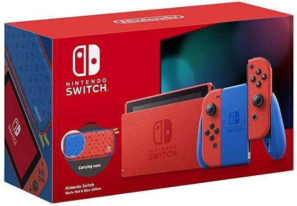 Nintendo Switch 游戏主机 - Mario 红蓝款
