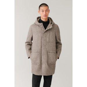 COS羊毛派克大衣