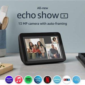 全新第二代 Echo Show 8 带Alexa语音助手智能屏