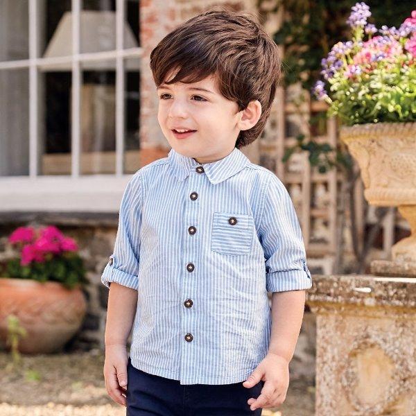 男婴幼童条纹衬衫
