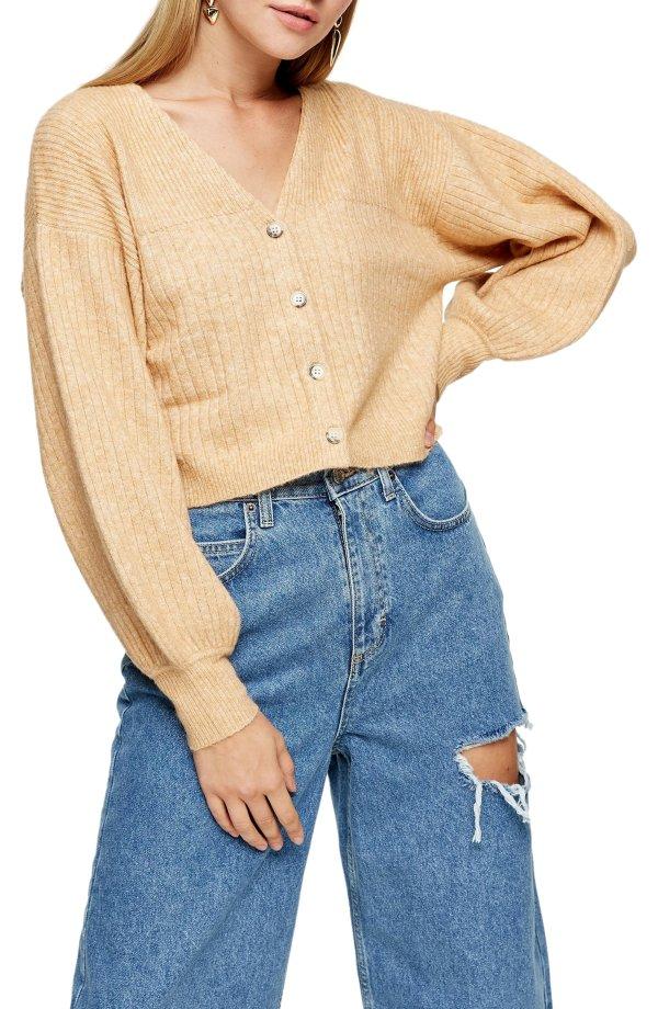 短款毛衣开衫