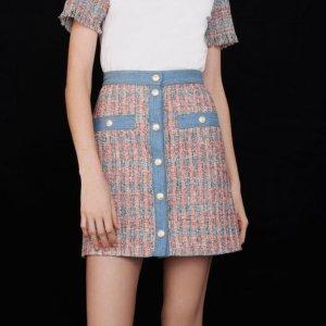 5折起 £84就收Maje 半身裙大促 收夏日必备法式、小香风设计
