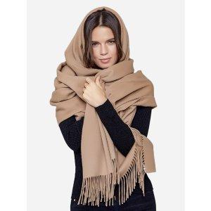 纯羊绒毛毯/大围巾