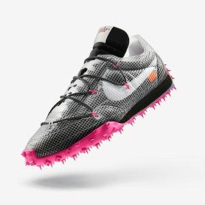 三色选$195 女生专属炸街潮鞋Nike x Off-White Waffle Racer 全新联名跑鞋 尖刺美学不好惹
