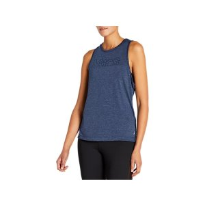 AsicsWomen's W ASICS MUSCLE TANK | PEACOAT HEATHER | Sleeveless Shirts | ASICS