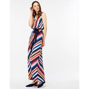 Monsoon | Sunshine Stripe Maxi Dress | Multi | UK 10 / US 6 / EU 38 | 4439390810