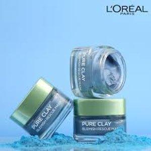 $10.54(原价$12.11)L'Oreal Pure Clay 蓝色海藻矿物泥排毒面膜 深层清洁毛孔