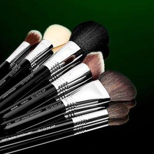 8折 $16.4起Sigma 专业化妆刷 F80平头粉底刷 好用出圈款必入 玫瑰金套刷