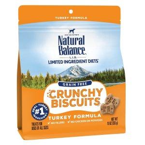 Natural Balance L.I.D. Turkey Formula Grain-Free Dog Treats, 10-oz