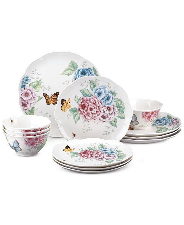 蝶舞花香餐具12件套