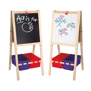 Cra-Z-Art 3-in-1 Smartest Artist Standing Easel- Chalk Board, Dry Erase Board and Storage