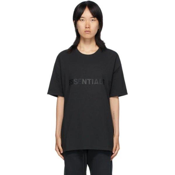 黑色logo t恤