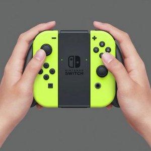 现价£59.99(原价£69.99)手慢无:Nintendo Switch Joy-Con 无线控制器 黄色