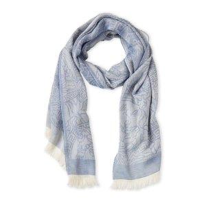 现价$103.86(原价$400)Versace  美杜莎提花围巾特价 二色可选