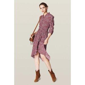 BA&SHChelsea Dress, Carmin