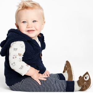 两件套$6 三件套$8.25限今天:Carter's官网 精选宝宝套装低至3折+满额7.5折优惠