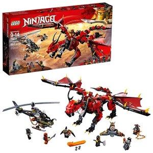 2f3d92c3bf7b3 LegoNINJAGO Masters of Spinjitzu: Firstbourne 70653 Ninja Toy Building Kit  with Red Dragon Figure,