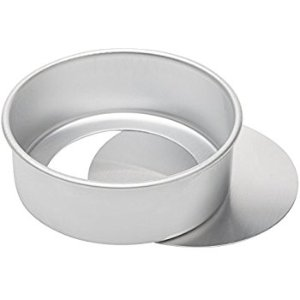 Amazon.com: Ateco Aluminum Cake Pan with Removable Bottom, 6 by 3-Inch, Round: Kitchen & Dining