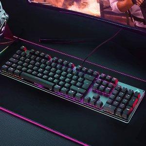 折后€59.99 2种轴体可选AUKEY KM-G12 机械键盘热卖 7色炫彩背光灯 105键全尺寸