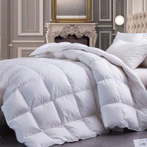 $143.95(原价$159.95)GDFP  防过敏白鹅绒被 100%纯棉外壳 Queen尺寸