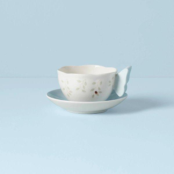 蝶舞花香茶杯套装