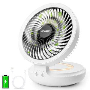 $19.99HOKEKI USB Desk Fan with Night Breathing Light