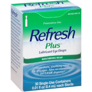 Refresh Plus 润眼液 30 x 0.01 fl. oz. 一次性使用装