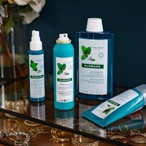 返$30+送芒果护发素、4件套Klorane 法国天然植物护发 get夏日去油水薄荷洗发