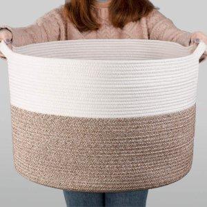$35.69(原价$41.99)INDRESSME 超大编织洗衣篮 居家必备品