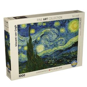 $14.96(原价$33)Eurographics 梵高《星夜》1000片拼图