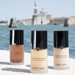 买就送妆前乳+红管500Giorgio Armani 全线粉底液、气垫等底妆产品热卖