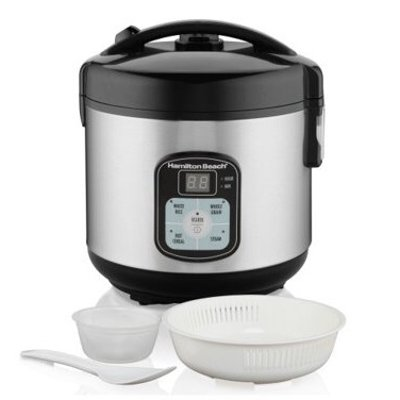 $19.99Hamilton Beach 8-Cup Rice Cooker and Steamer