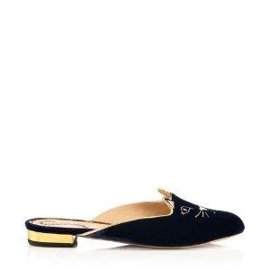 Women's Designer Flat Shoes |- KITTY SLIPPER