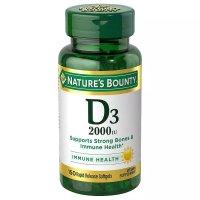Nature's Bounty 维生素D3 2000 IU