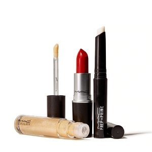 $29.5(价值$55)+满送2颗眼影+免邮上新:MAC 明星唇部3件套 含正装Chili和Russian Red