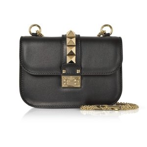 ValentinoLock Small Leather Chain Shoulder Bag