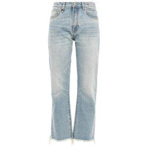 R13高腰直筒牛仔裤