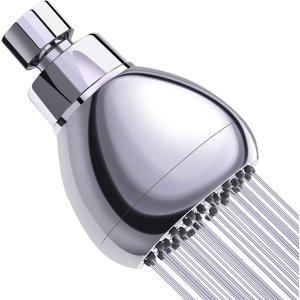 $20.99(原价$21.99)节水增压淋浴喷头 防止喷头堵塞 适用于低流量水压管道