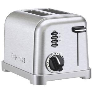 $59.99(原价$69.99) 8.6折黑五价:Cuisinart 金属制吐司烤面包机 2片装
