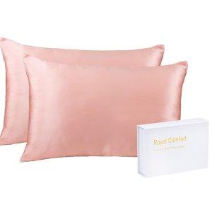 $39 (原价$229)好肌肤好睡眠Groupon 100%桑蚕丝枕套2件