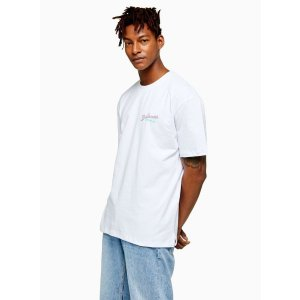 TopmanWhite Bahamas Print T-Shirt