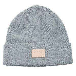 Obey灰色针织套头帽