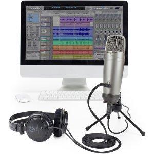 $59.99 (原价$99.99)Samson C01U Pro USB 麦克风 + 监听耳机 + Audiodesk 软件