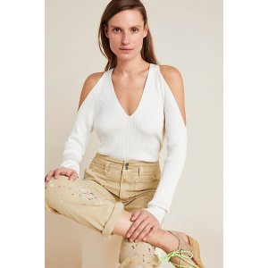 AnthropologieFontaine Open-Shoulder Sweater