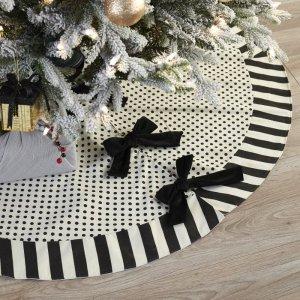 Belham LivingBlack and White Polka Dot Christmas Tree Skirt