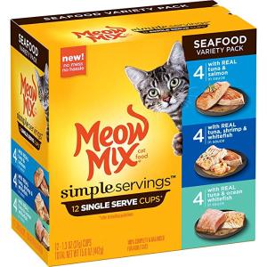 Meow Mix 海鲜味猫湿粮罐头 1.3oz 12罐